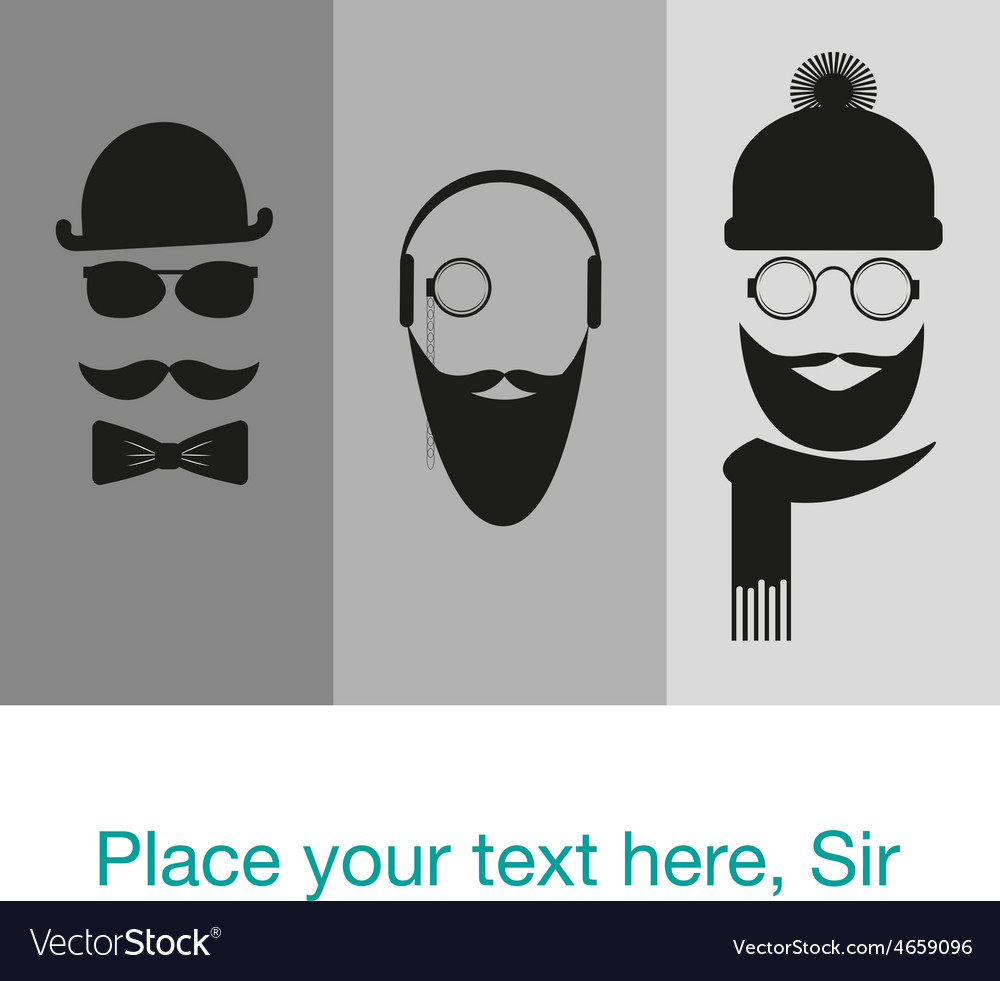 Hipster background template card banner Royalty Free Vector