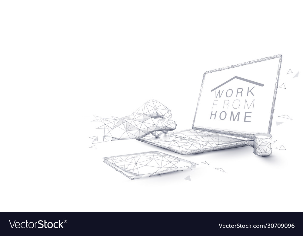 Man hands using laptop working from home concept
