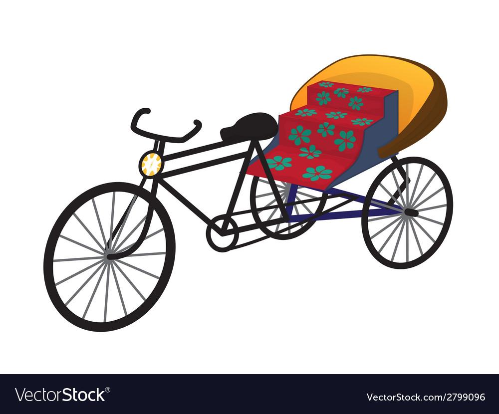 Oriental tricycle rickshaw cab