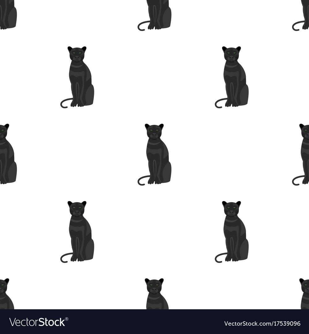 Panther predatory animal pantera wild cat vector image