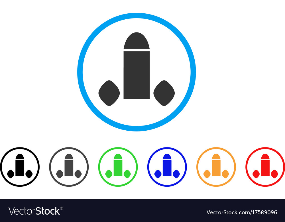 Penis enhancement tabs rounded icon vector image