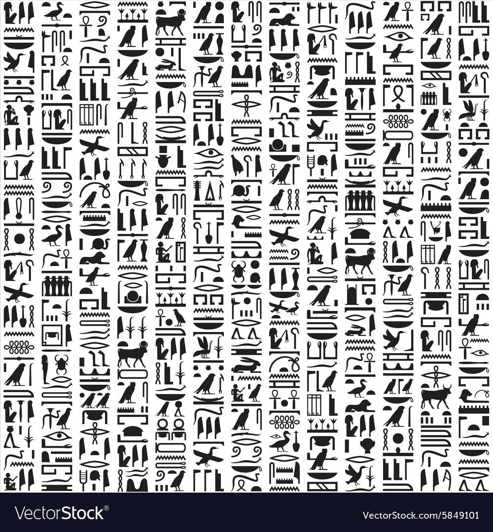 Ancient Egyptian hieroglyphic writing