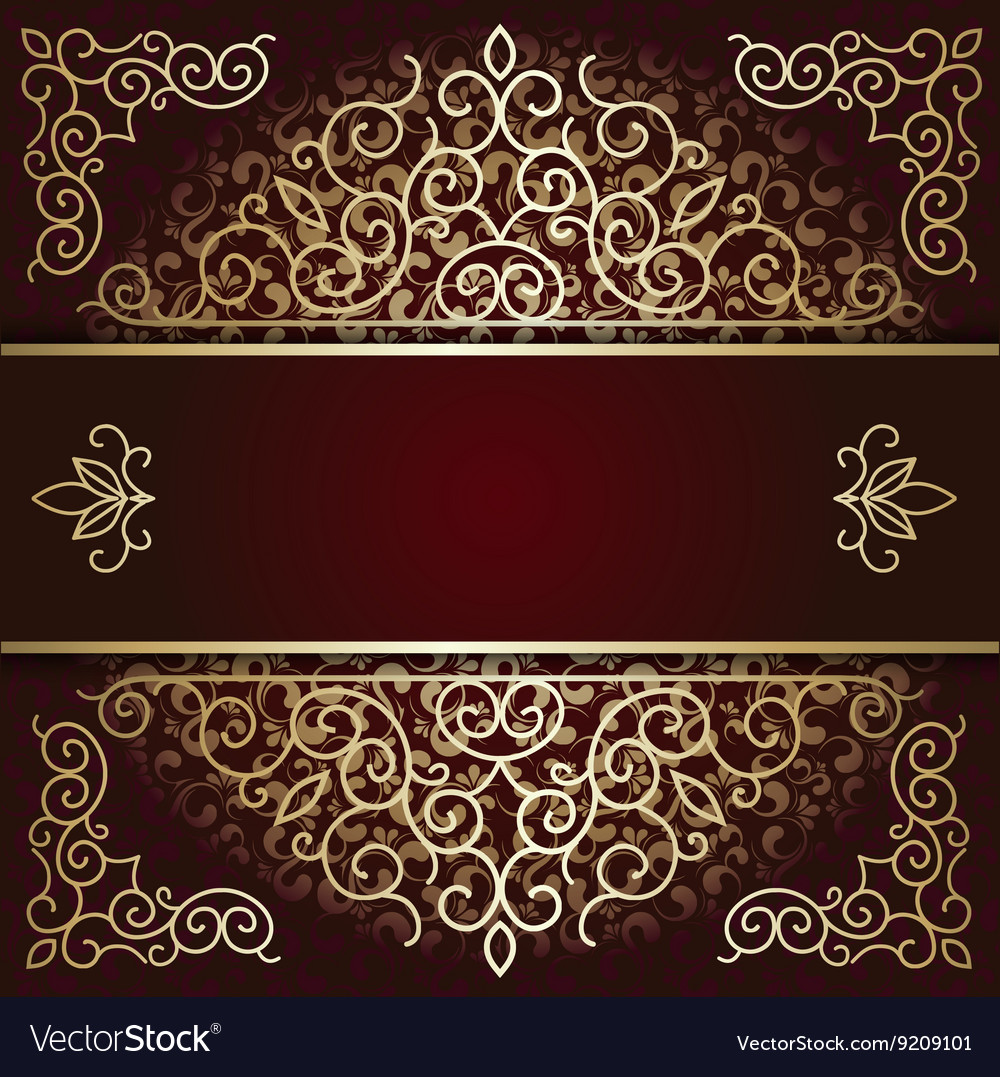 Luxury background card with maroon and gold
