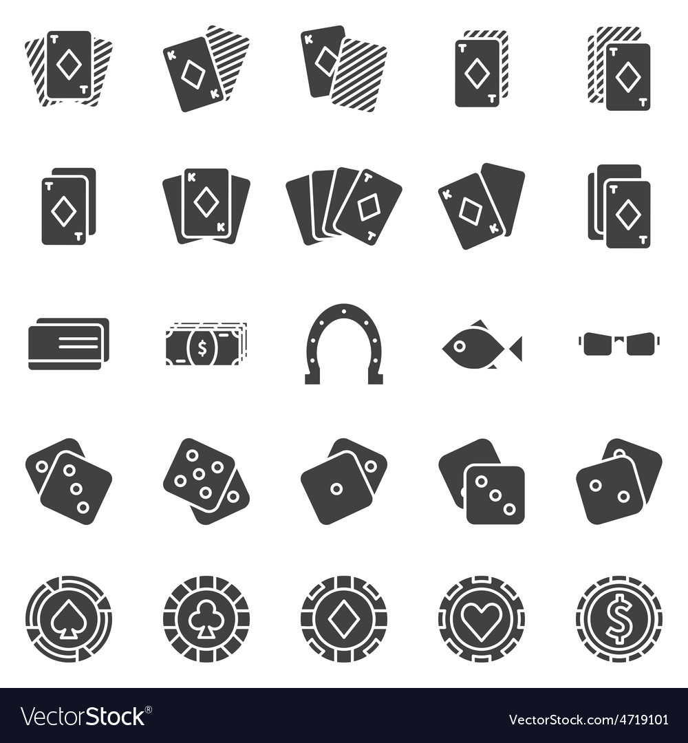 Poker icons set