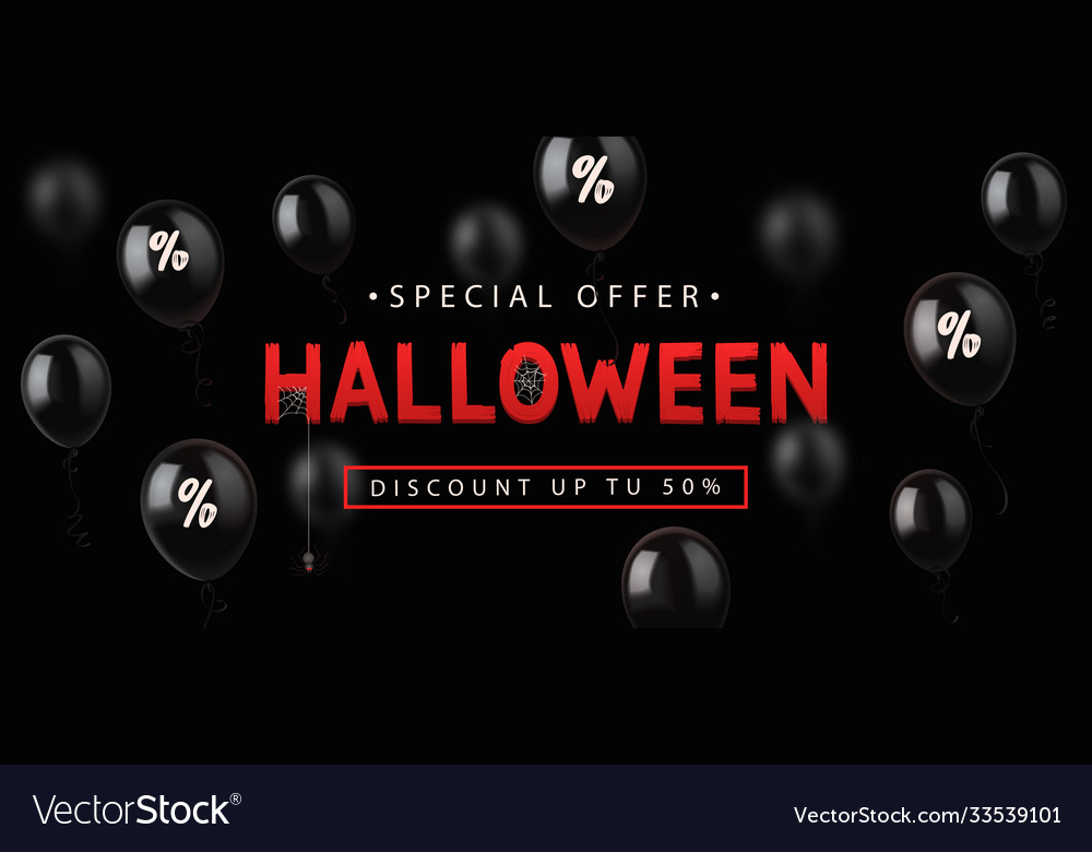 Sale banner for halloween holiday