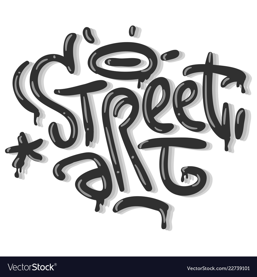 Street art related tag graffiti influenced label vector image