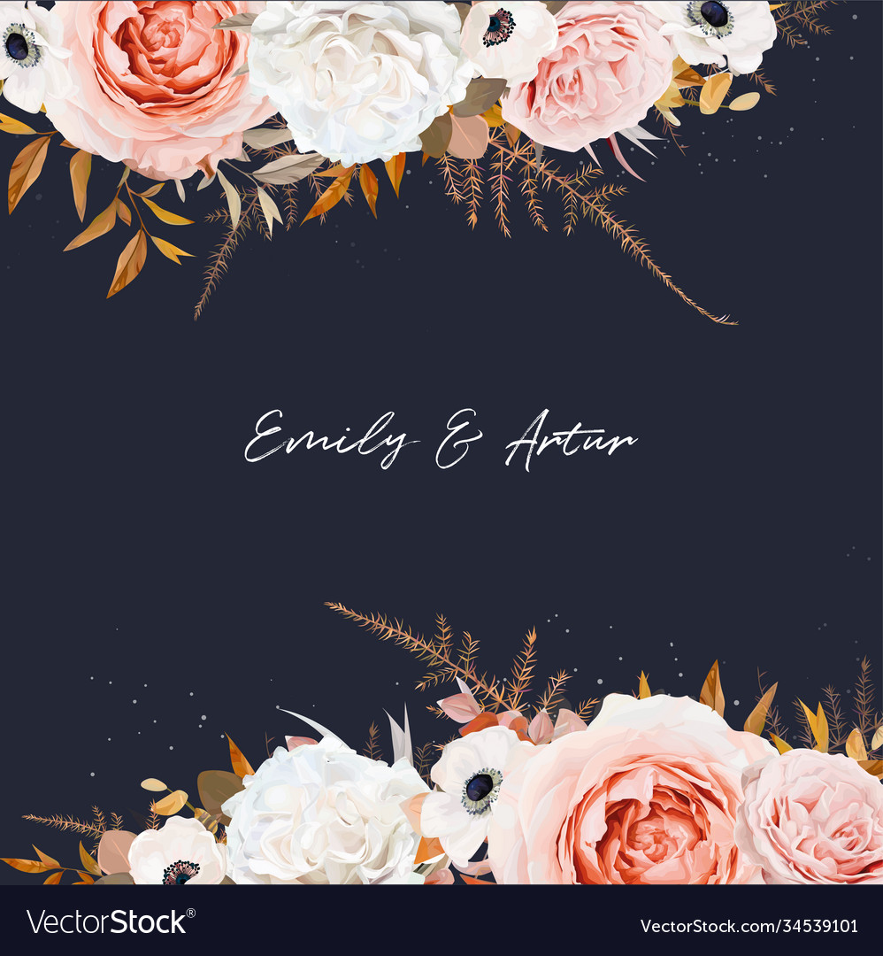 Stylish wedding invite save date card design navy