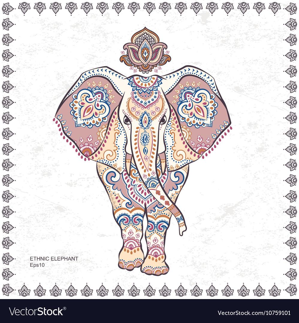 Vintage graphic indian lotus ethnic