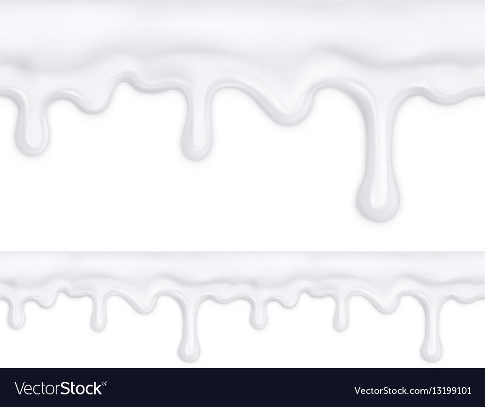 White doughnut glaze seamless pattern mesh
