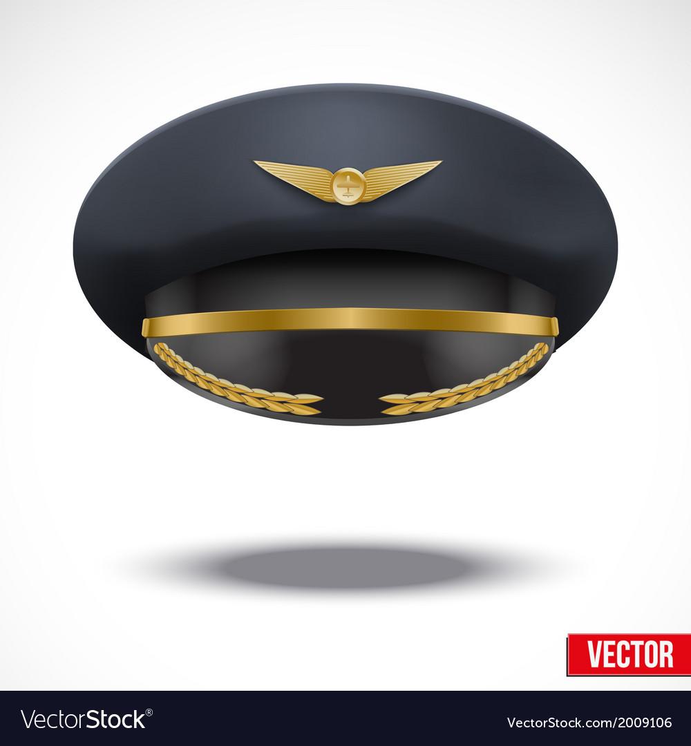 Aviator Peaked cap of the pilot vector image