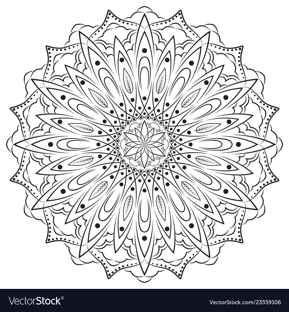 Flower mandala vintage decorative elements