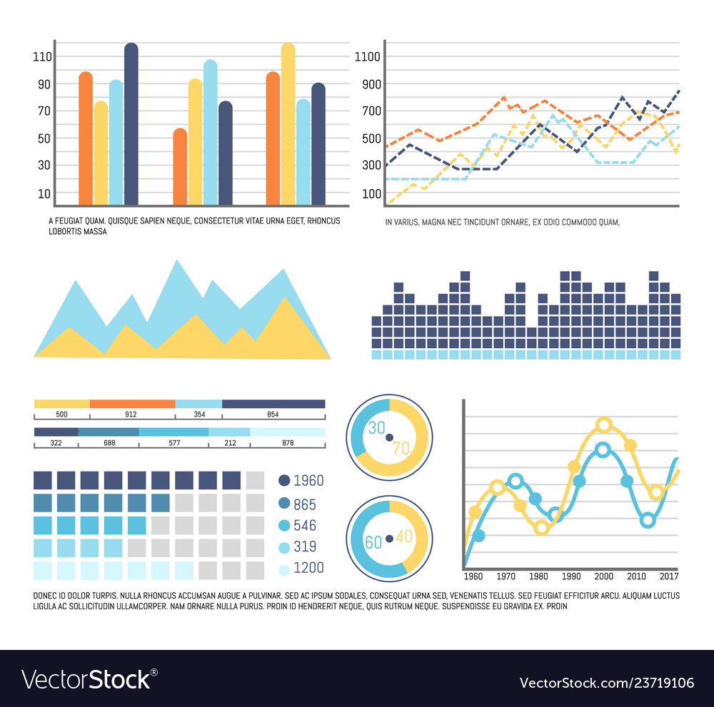 Infographics and graphic charts data presentation