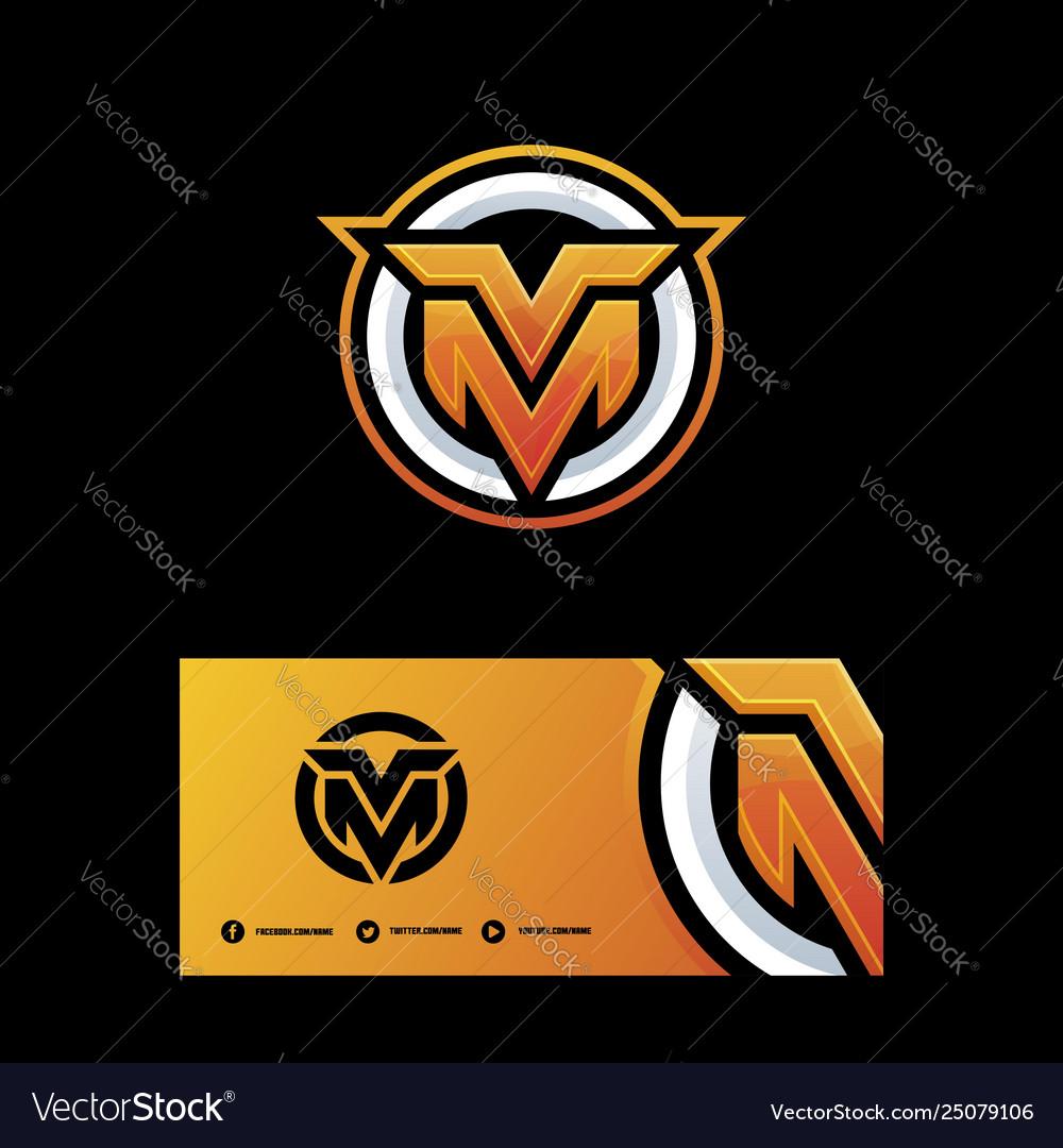 Letter m-v template