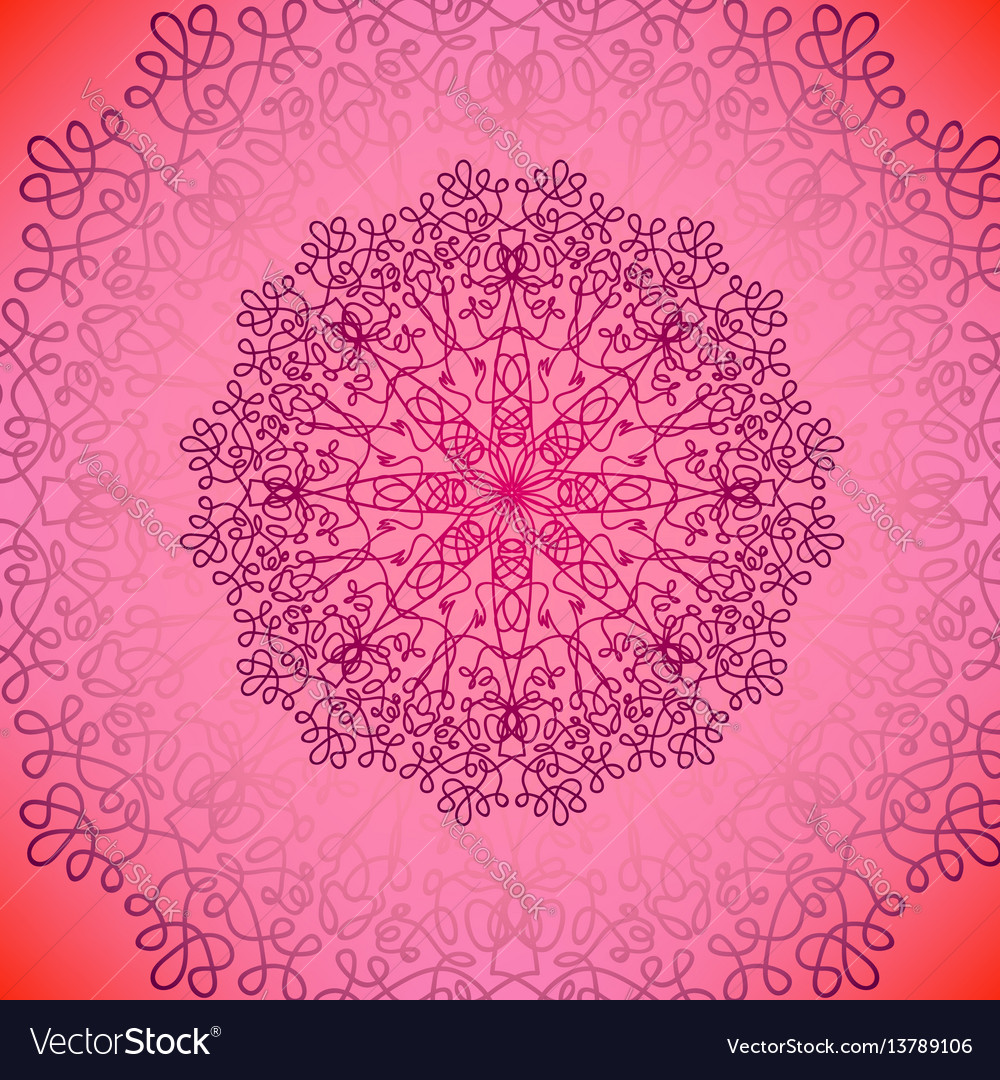 Pink circle lace ornament