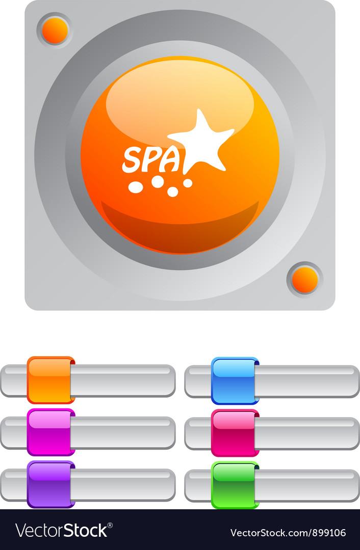 Spa color round button
