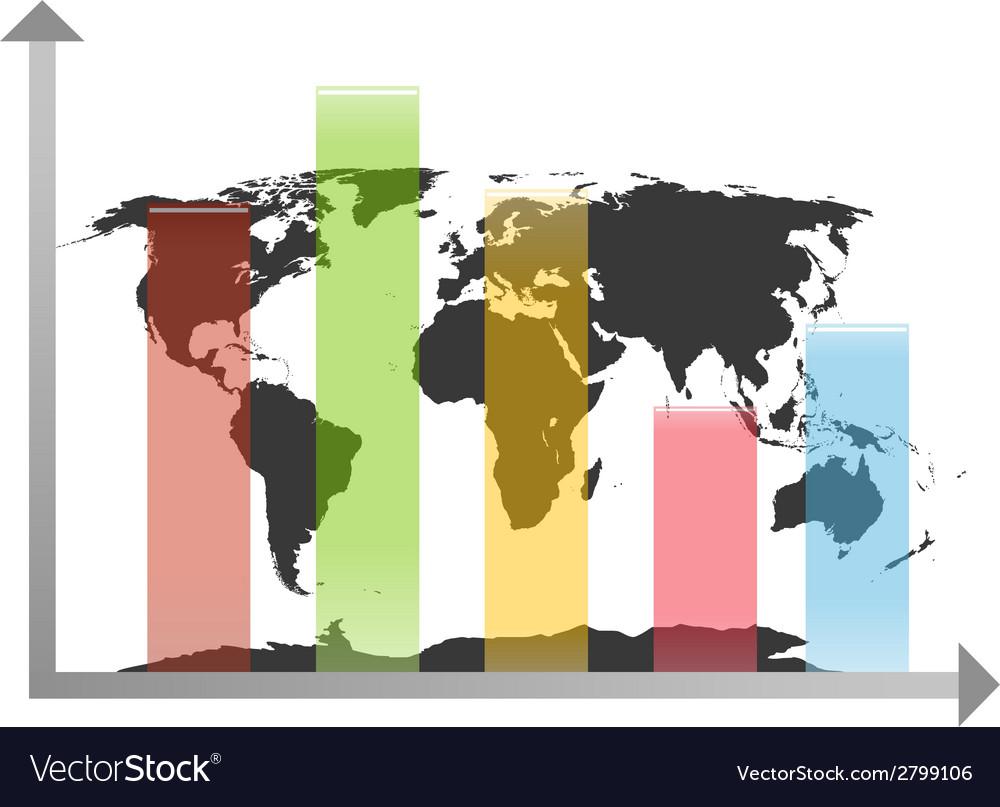 World Map Chart Royalty Free Vector Image VectorStock - Mapchart
