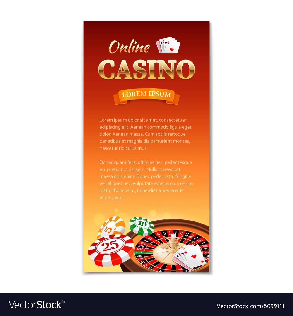 Casino background vertical banner flyer