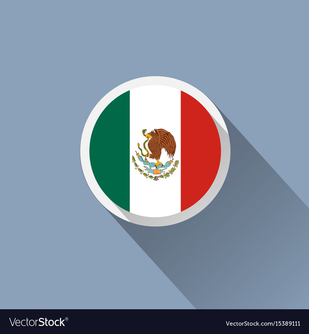 Flag of mexico mexican round flat button