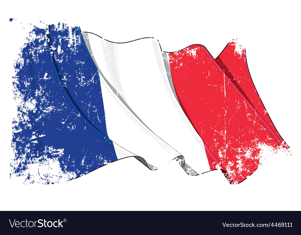 france flag grunge royalty free vector image vectorstock