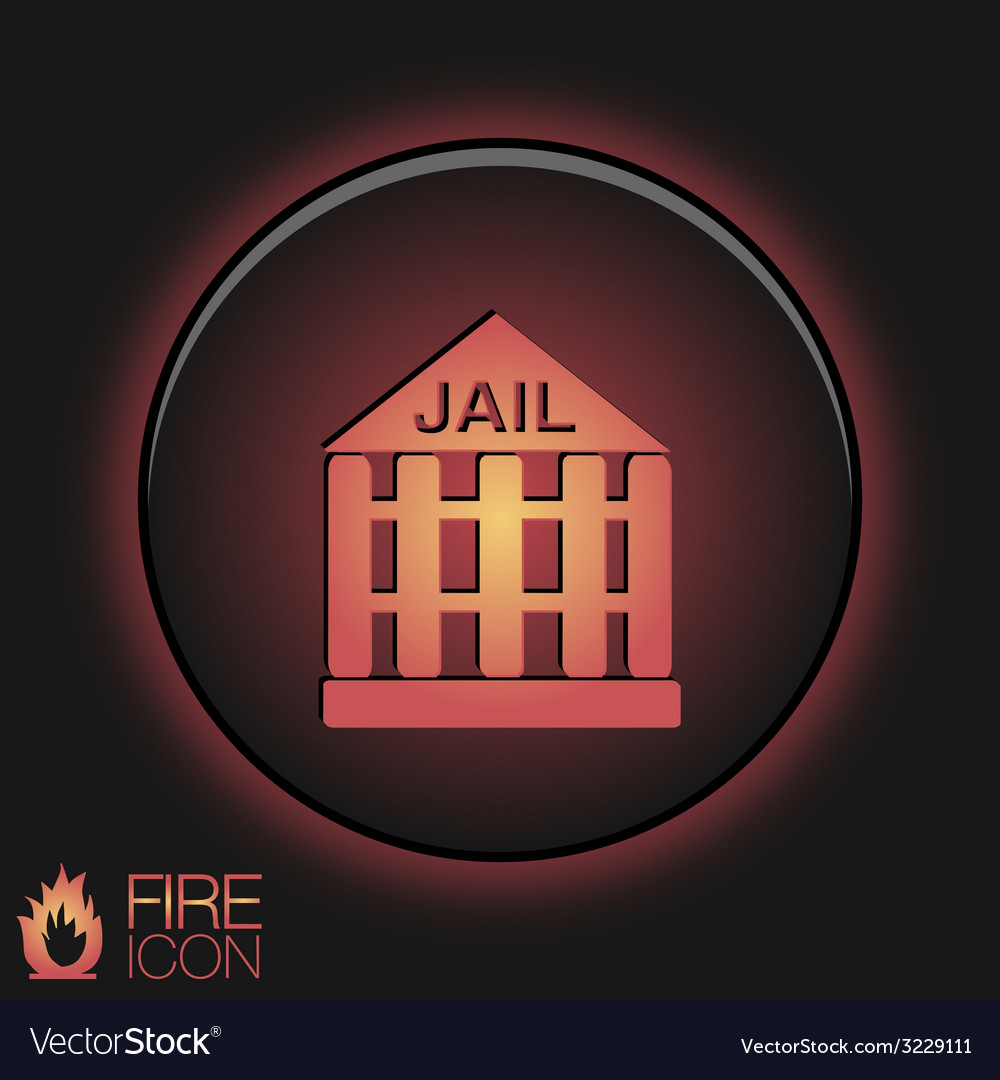 Icon prison symbol of justice police icon vector image