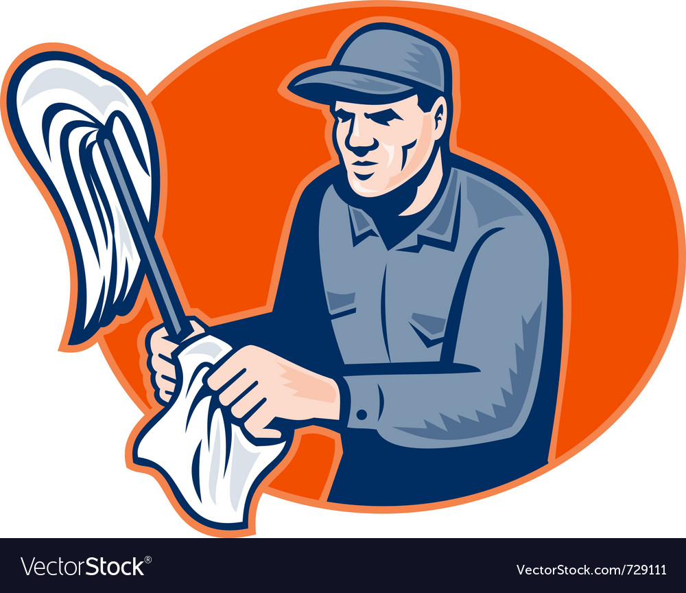 Janitor cleaner with mop