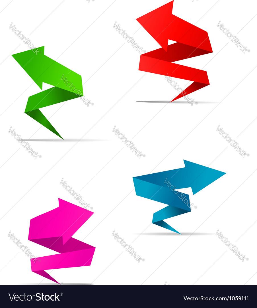 Origami Arrow web banners
