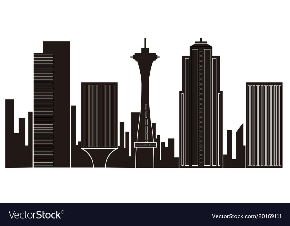 Seattle cityscape silhouette