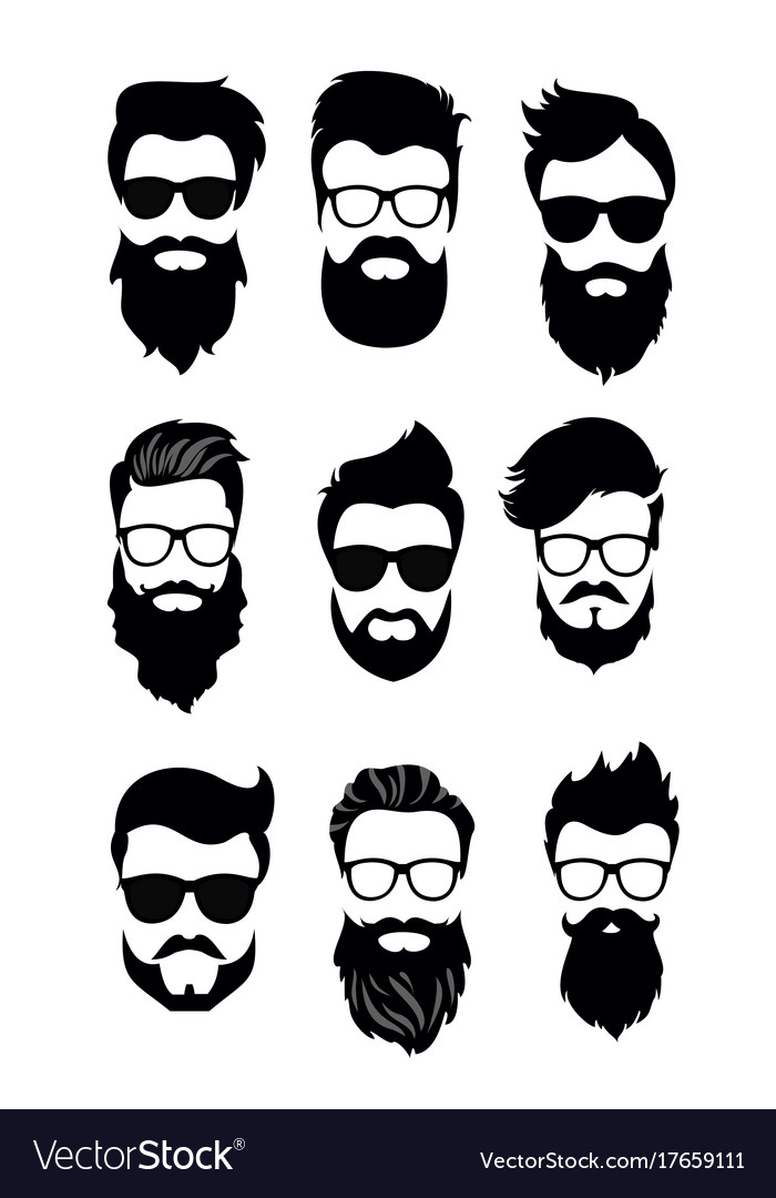 Set of bearded men