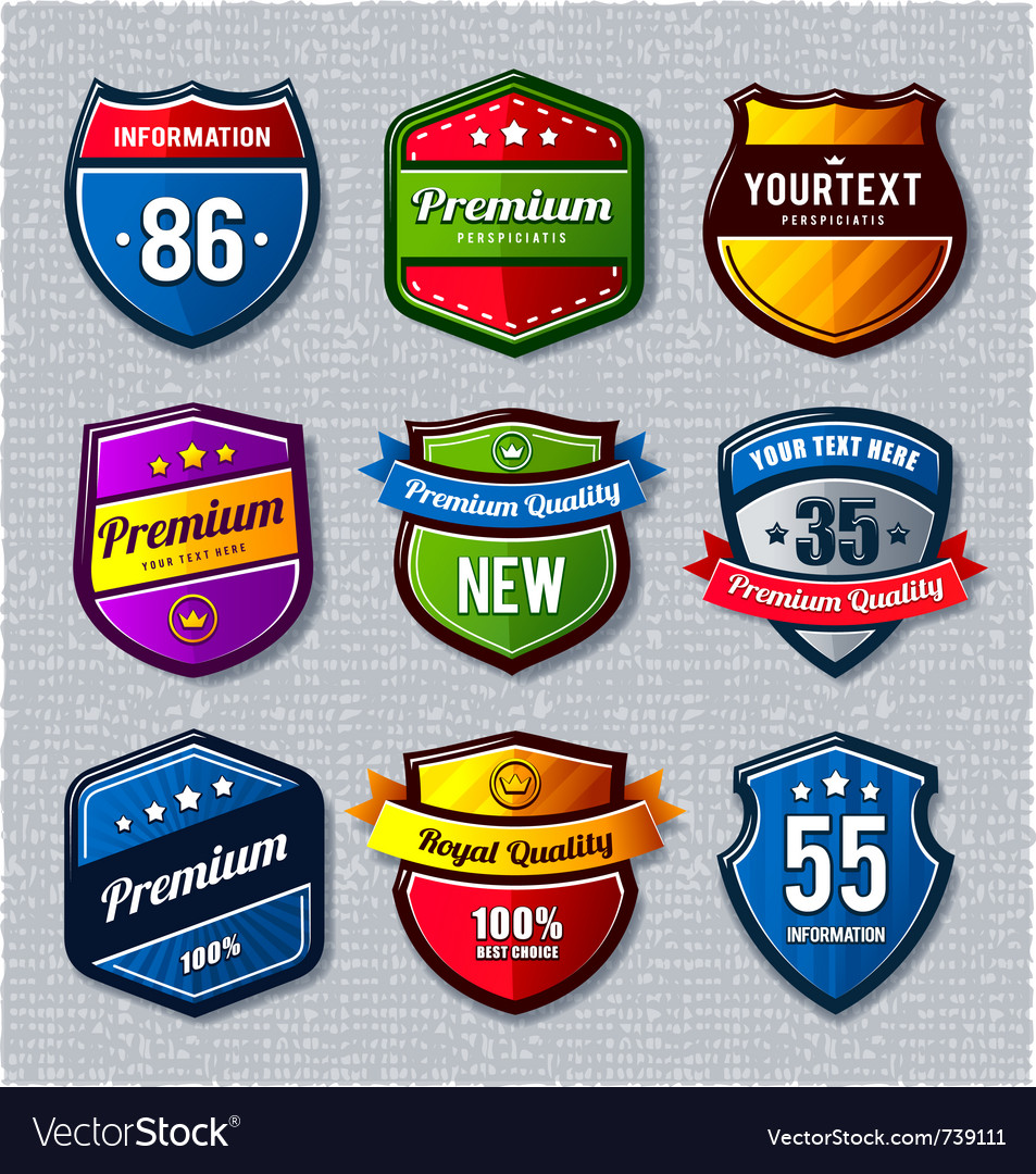 Set retro badges
