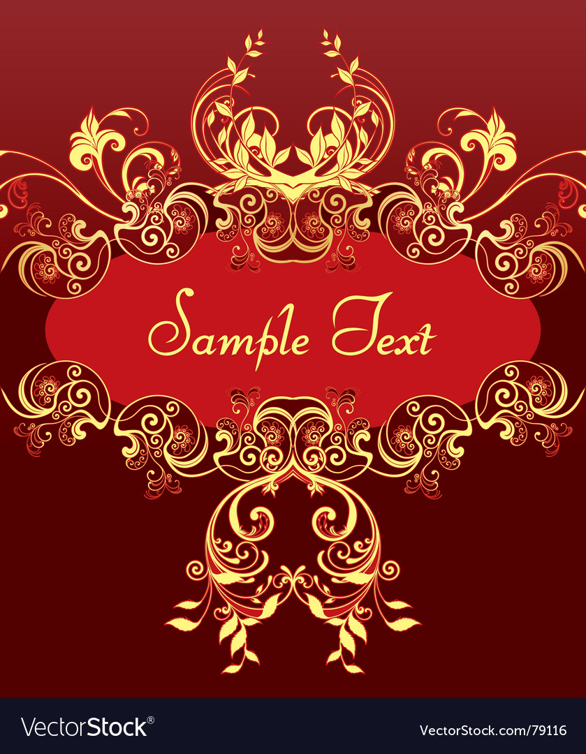 Free golden frame vector