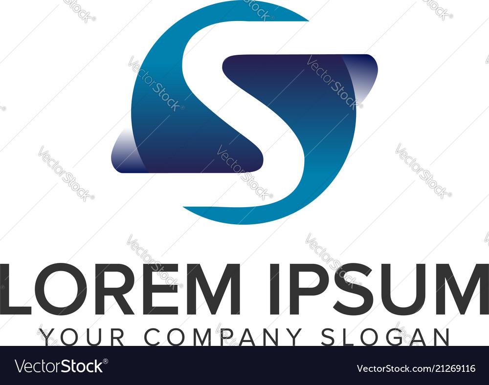 Letter s modern 3d logo design concept template