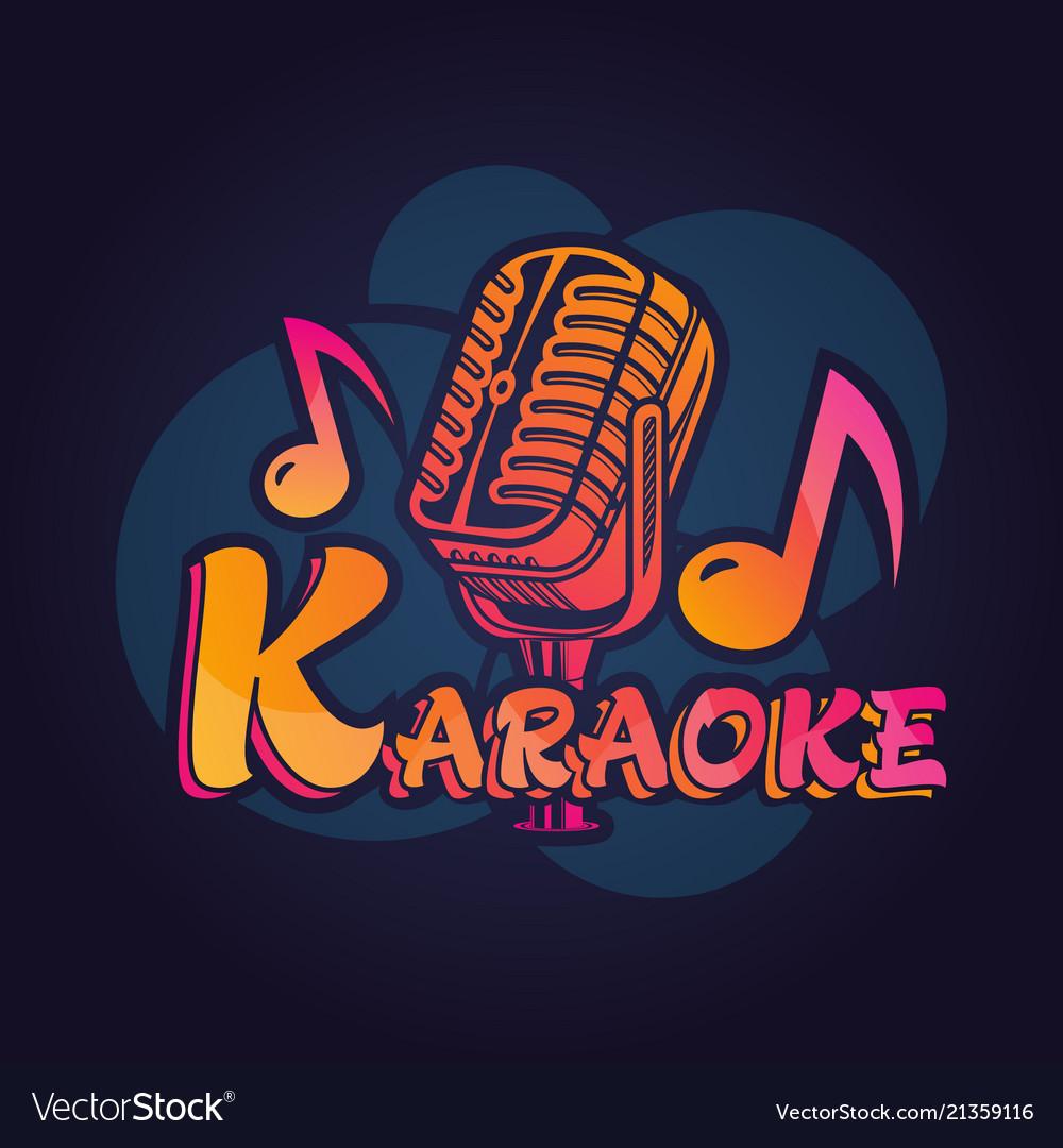 Microphone label for karaoke bar