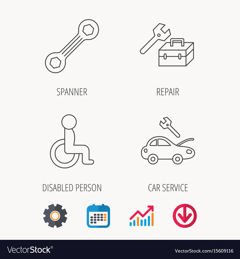 Repair toolbox spanner tool and car service