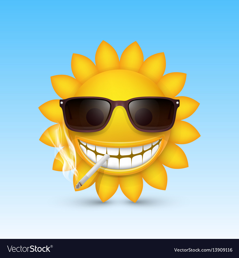 Smiley sun glasses smoke