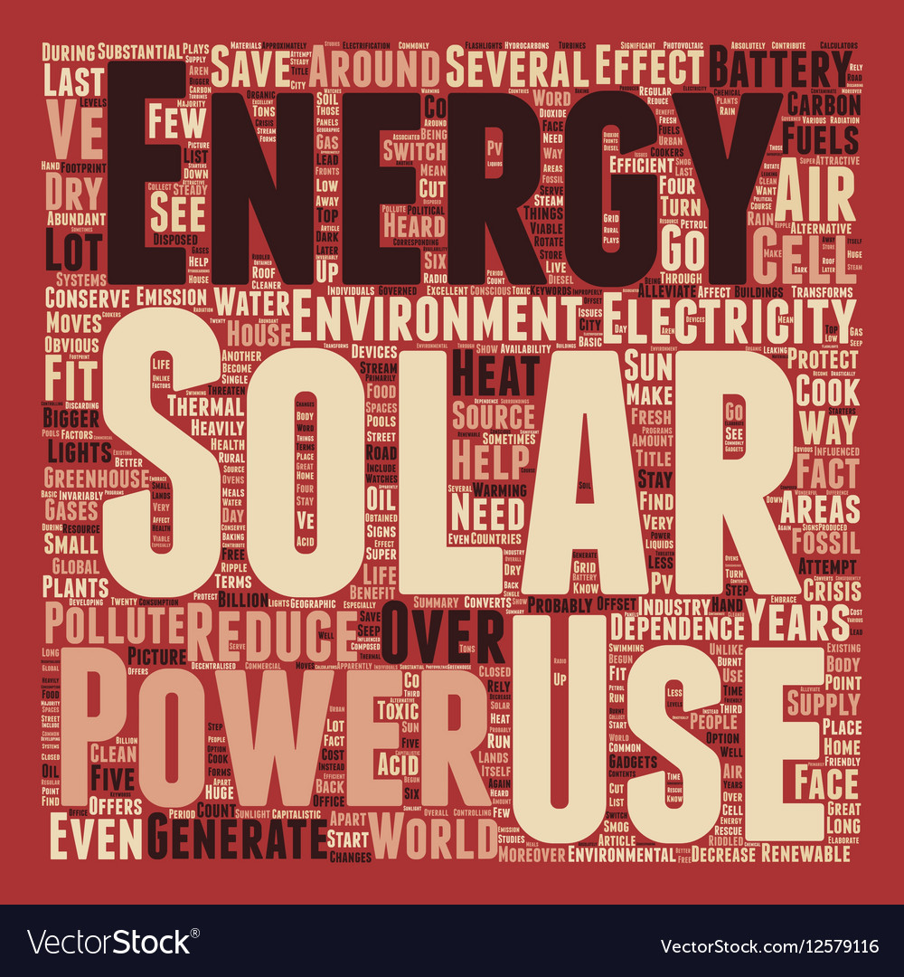 Solar Power How Does It Save The Environment text