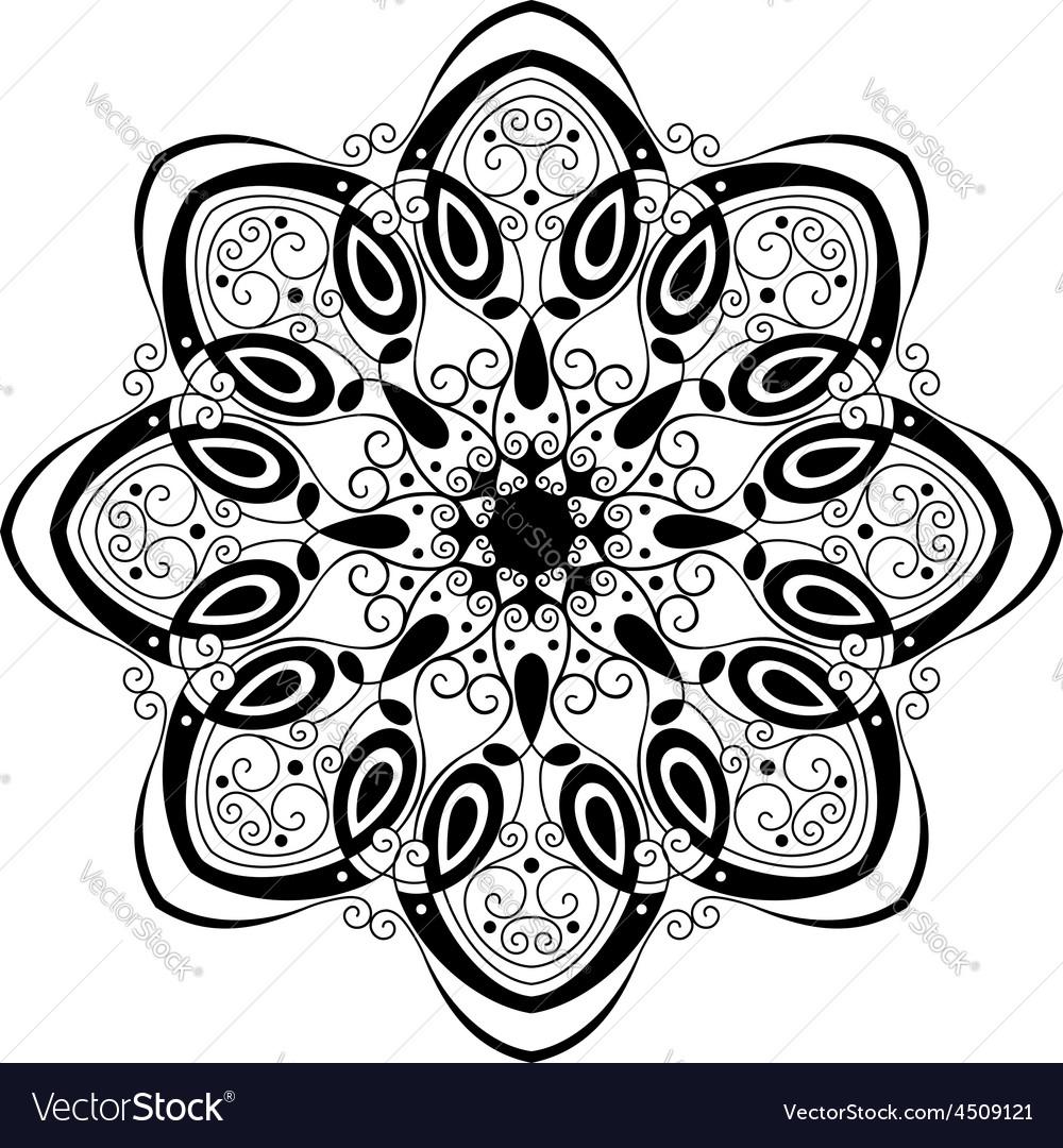 Beautiful Deco Mandala Royalty Free Vector Image