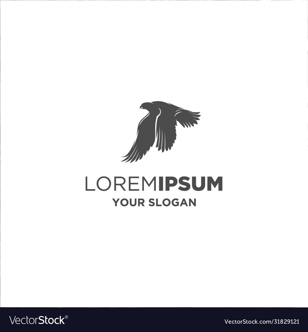 Black falcon silhouette logo