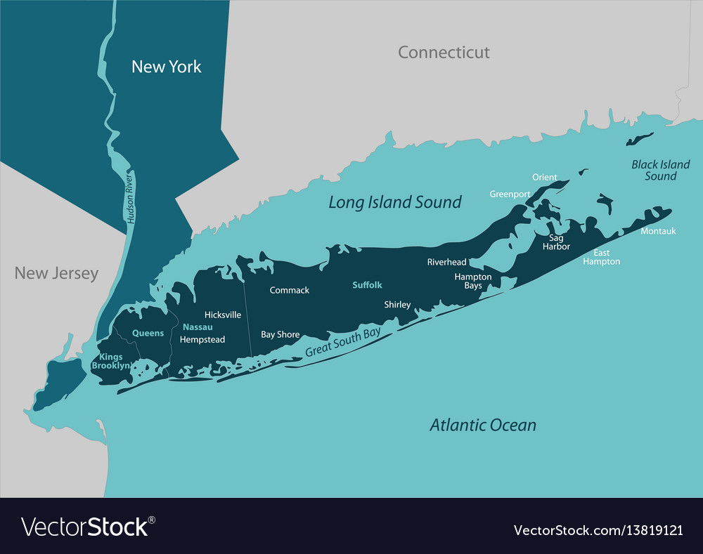 Map Of New York And Long Island.Map Of Long Island