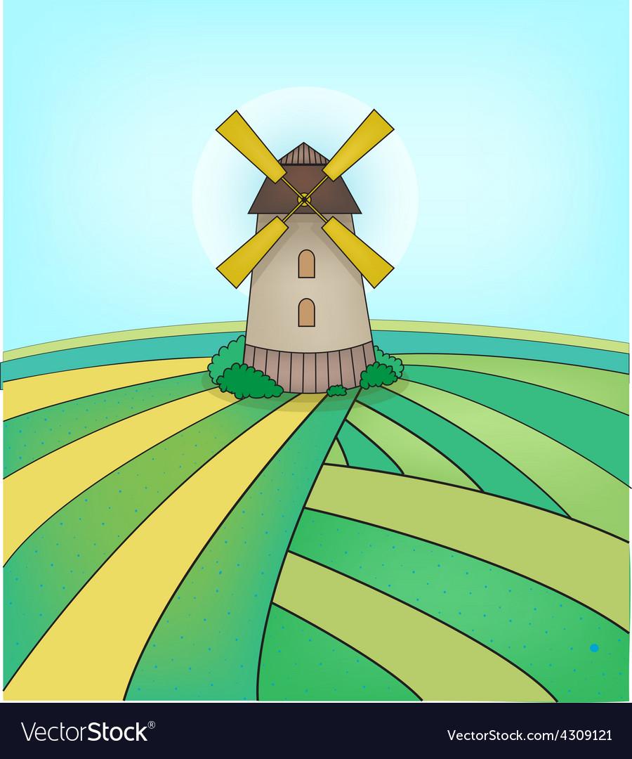 Mill on field