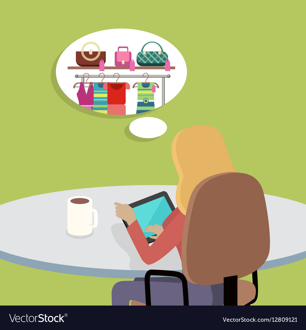Woman Working with Tablet Computer in Office