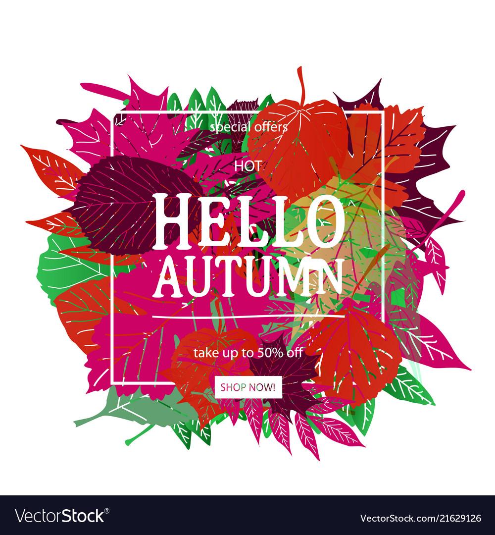 Autumn sale discount banner