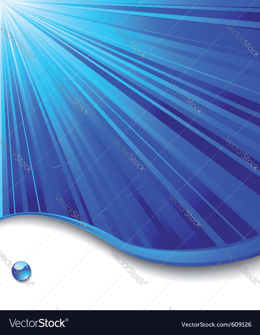 Blue banner template - ray background