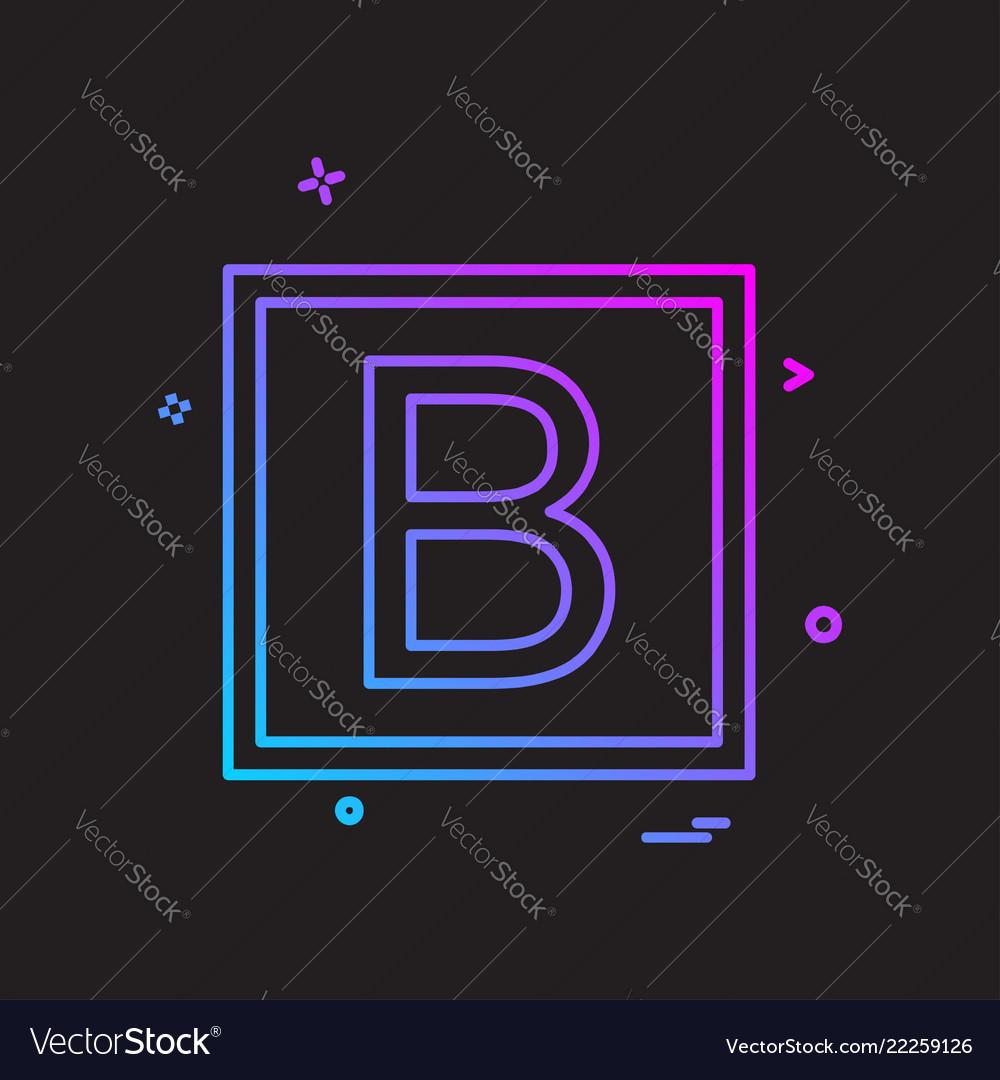 Bold icon design Royalty Free Vector Image - VectorStock