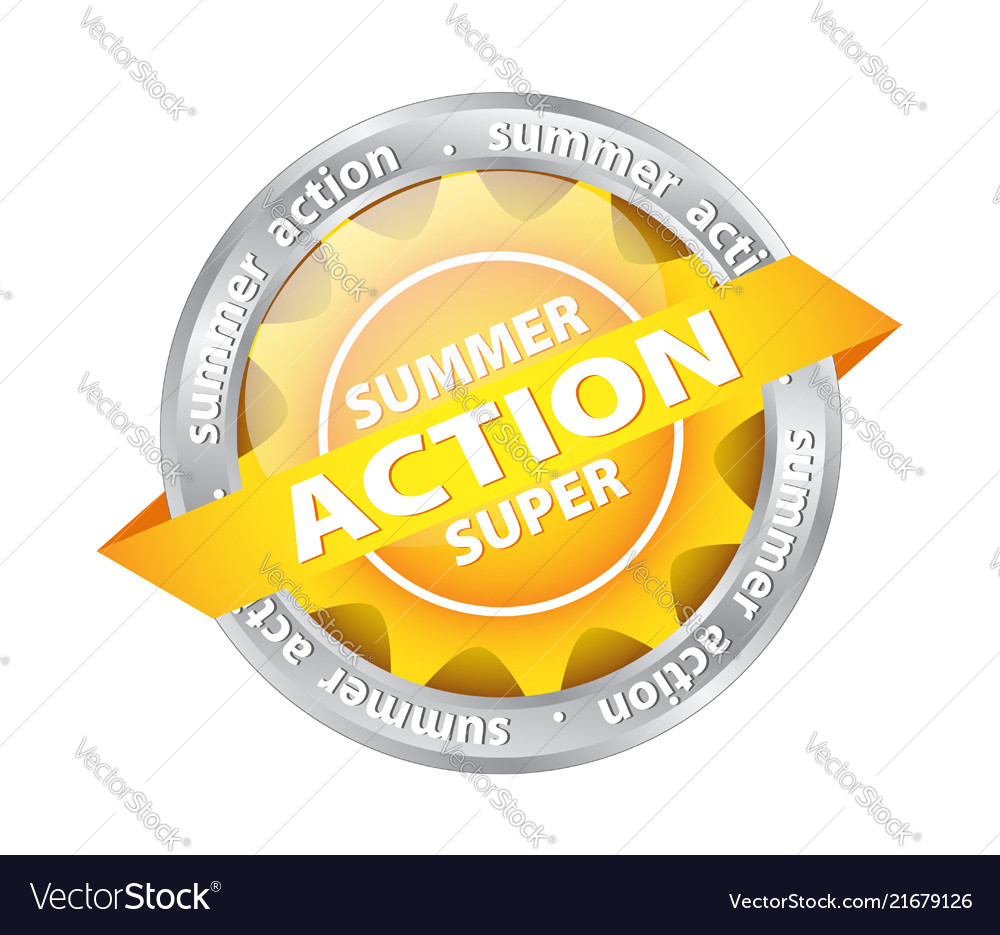 Bright sun button tag with summer supper action