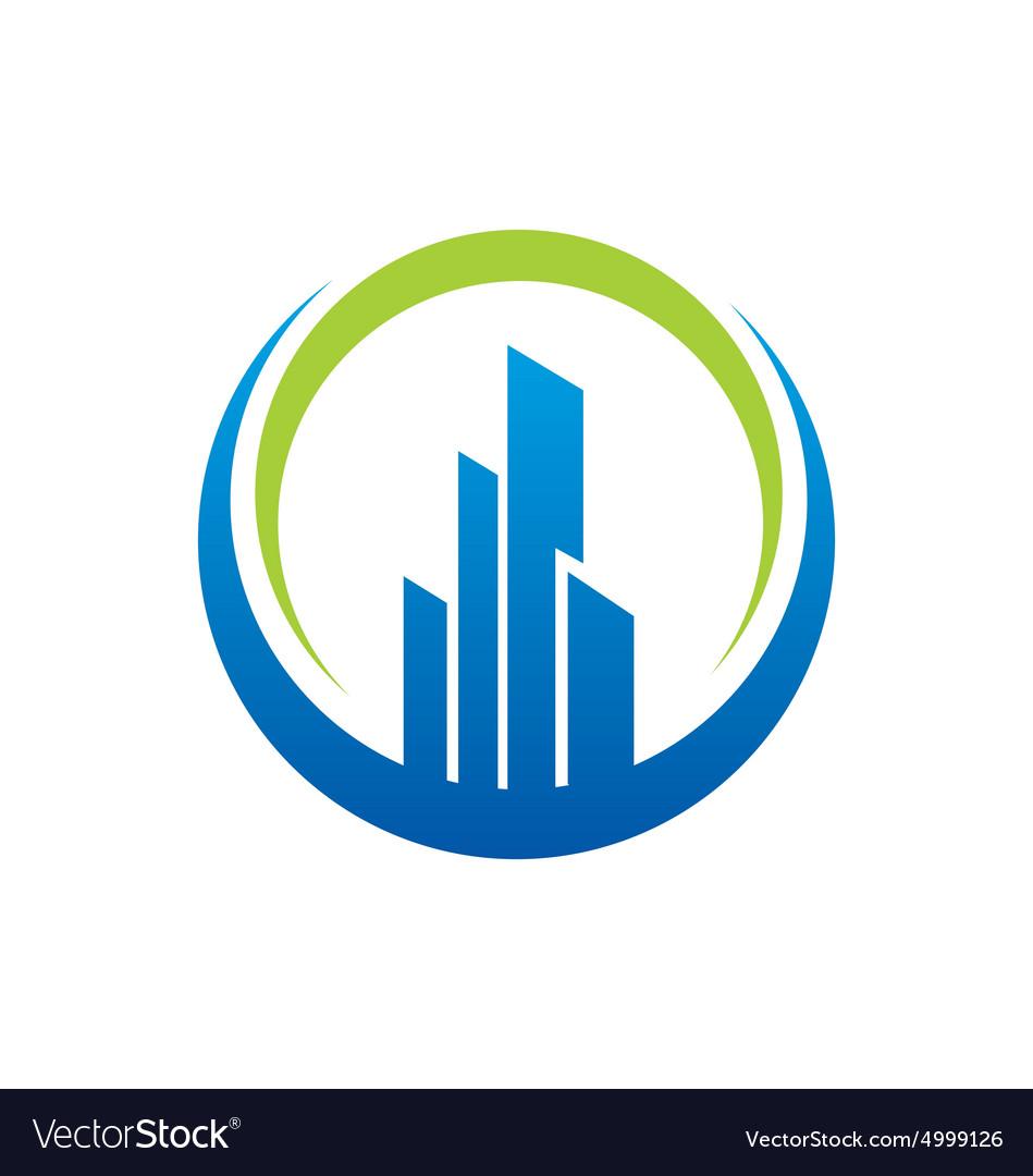 Building city construction logo