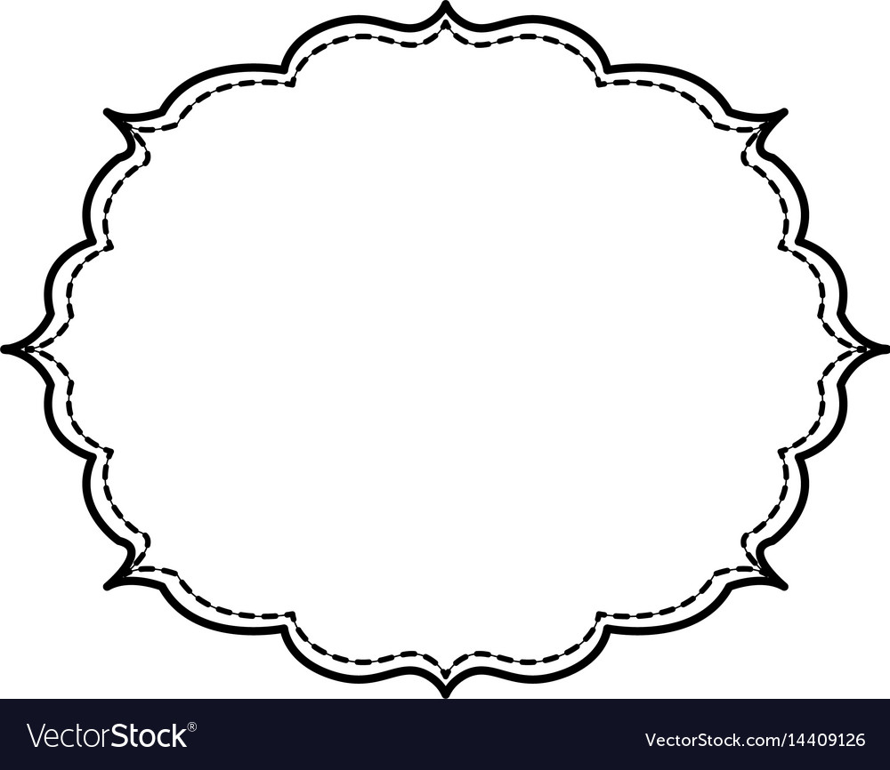 Decorative frame bannner vector image