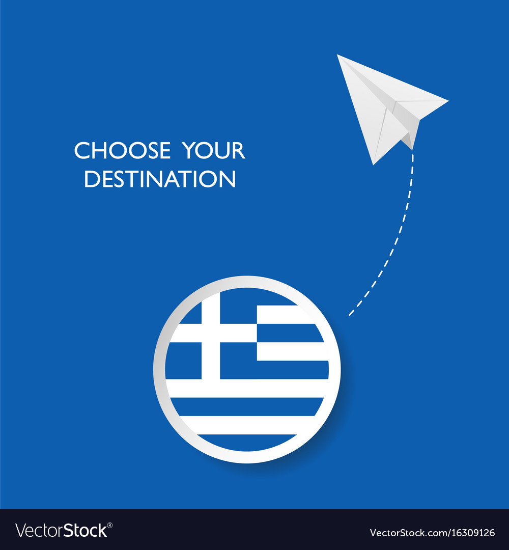 Greece travel sign vector image