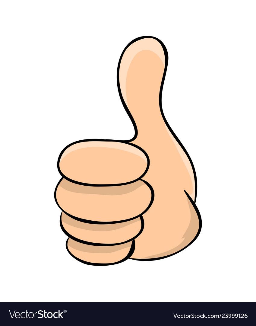 hand thumb up cartoon symbol icon design vector image vectorstock