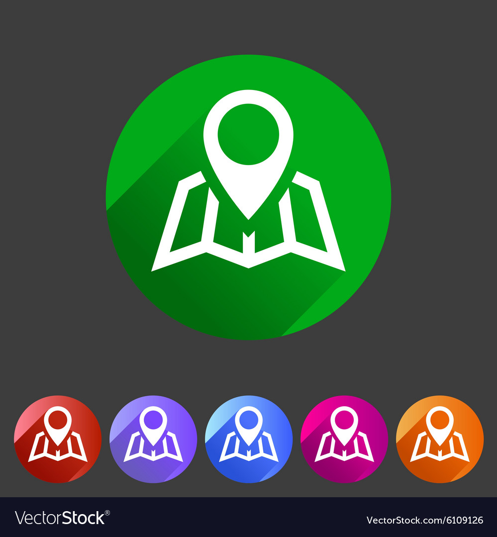 Map location icon flat web sign symbol logo label