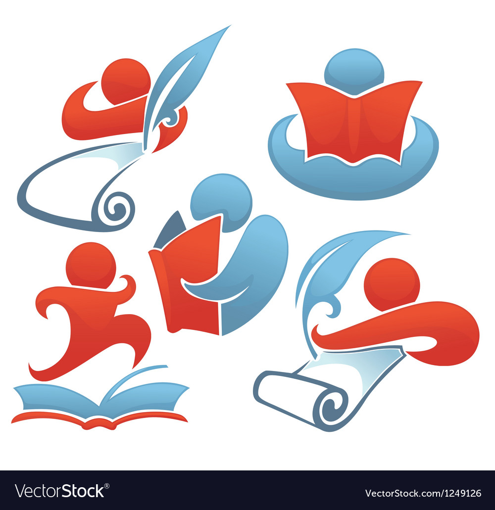 Reading and education vector image